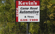 Kevin's Camp Road Automotive & Tire Sign